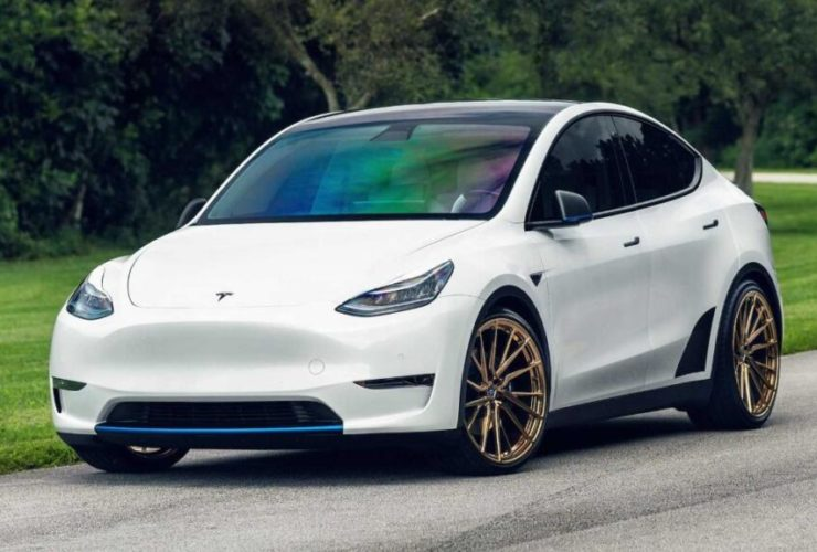 tesla-model-y-transforms-with-gold-vossen-rims