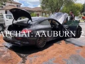 mercedes-amg-burnout-gone-wrong:-sydney-man-charged-after-car-catches-fire