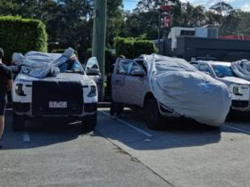 2022-ford-ranger-caught-testing-on-nsw-roads:-four-prototypes-stop-for-kfc