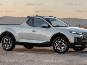 a-render-of-a-two-door-version-of-the-hyundai-santa-cruz-pickup-appeared-on-the-web