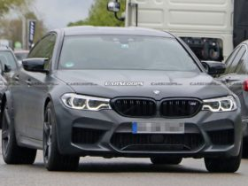mysterious-bmw-m5-with-rear-fender-extensions-came-out-for-tests