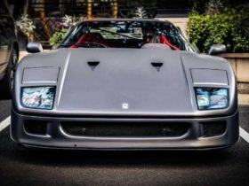 this-is-the-rarest-ferrari-f40-with-a-matte-gray-body