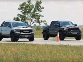 how-quick-is-hennessey's-mammoth-compared-to-the-stock-ram-1500-trx?