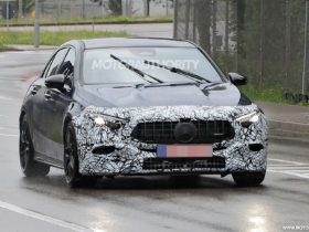 2023-mercedes-benz-amg-a45-hatchback-spy-shots:-mid-cycle-update-on-the-way
