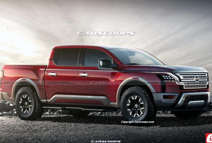 first-renders-of-the-newest-2024-nissan-titan-pickup-revealed