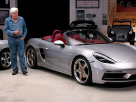 jay-leno-celebrates-25-years-of-porsche-boxster-by-driving-his-first-one