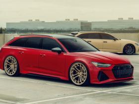 these-audi-rs6-models-are-lit,-each-with-its-own-set-of-custom-wheels-by-vossen