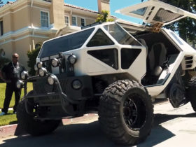 supercar-blondie-checks-out-$1.2-million-lunar-rover-suv-with-gullwing-doors