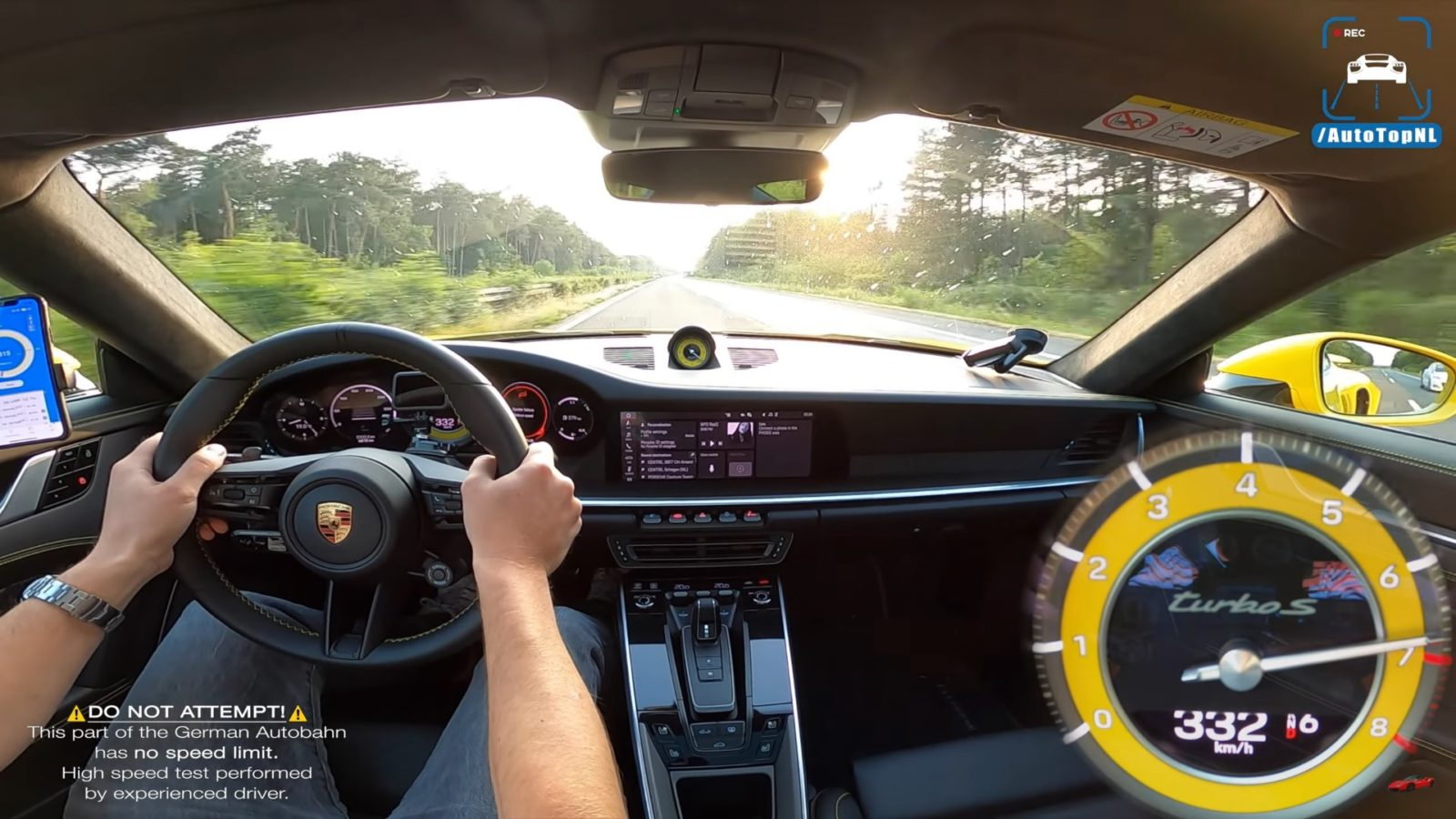 watch-this-992-porsche-911-turbo-s-hit-332-kph-like-it's-nothing