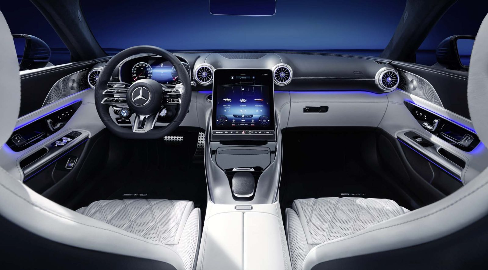2022-mercedes-benz-amg-sl-roadster's-high-tech-cabin-revealed