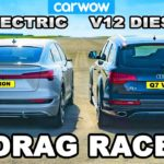 v12-diesel-audi-q7-drag-races-new-e-tron-electric-suv,-the-gap-is-clean