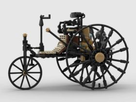 world's-first-automobile-was-built-by-benz-in-1885.-here's-a-lego-version-of-it