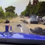 brazen-thieves-steal-c8-corvette-from-dealership,-crash-after-police-give-chase