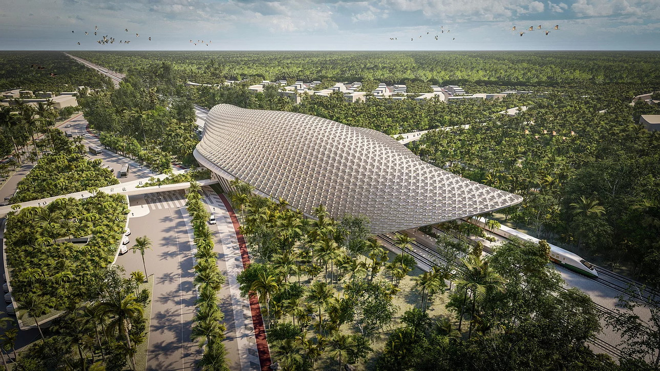 this-mayan-inspired-train-station-keeps-heat-away-without-mechanical-ventilation