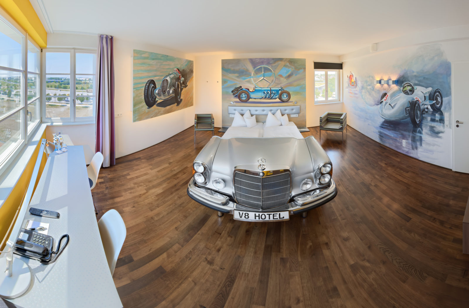 v8-hotel-is-one-of-a-kind-automotive-themed-hotel:-sleeps-you-in-a-car-bed