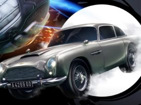 james-bond's-1963-aston-martin-db5-learns-to-play-soccer,-now-in-rocket-league