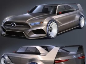 modernized-mercedes-benz-190-evo-ii-imagined-with-dtm-cues-and-mustang-vibes