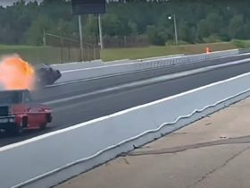 lizzy-musi-crashes-her-new-chevy-camaro-dragster,-gets-engaged-the-same-day