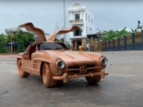 wooden-1955-mercedes-benz-300-sl-with-its-stretched-out-wings-looks-heavenly