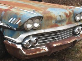 unmolested-1958-chevrolet-bel-air-left-to-rot-in-a-yard-is-a-mysterious-head-turner