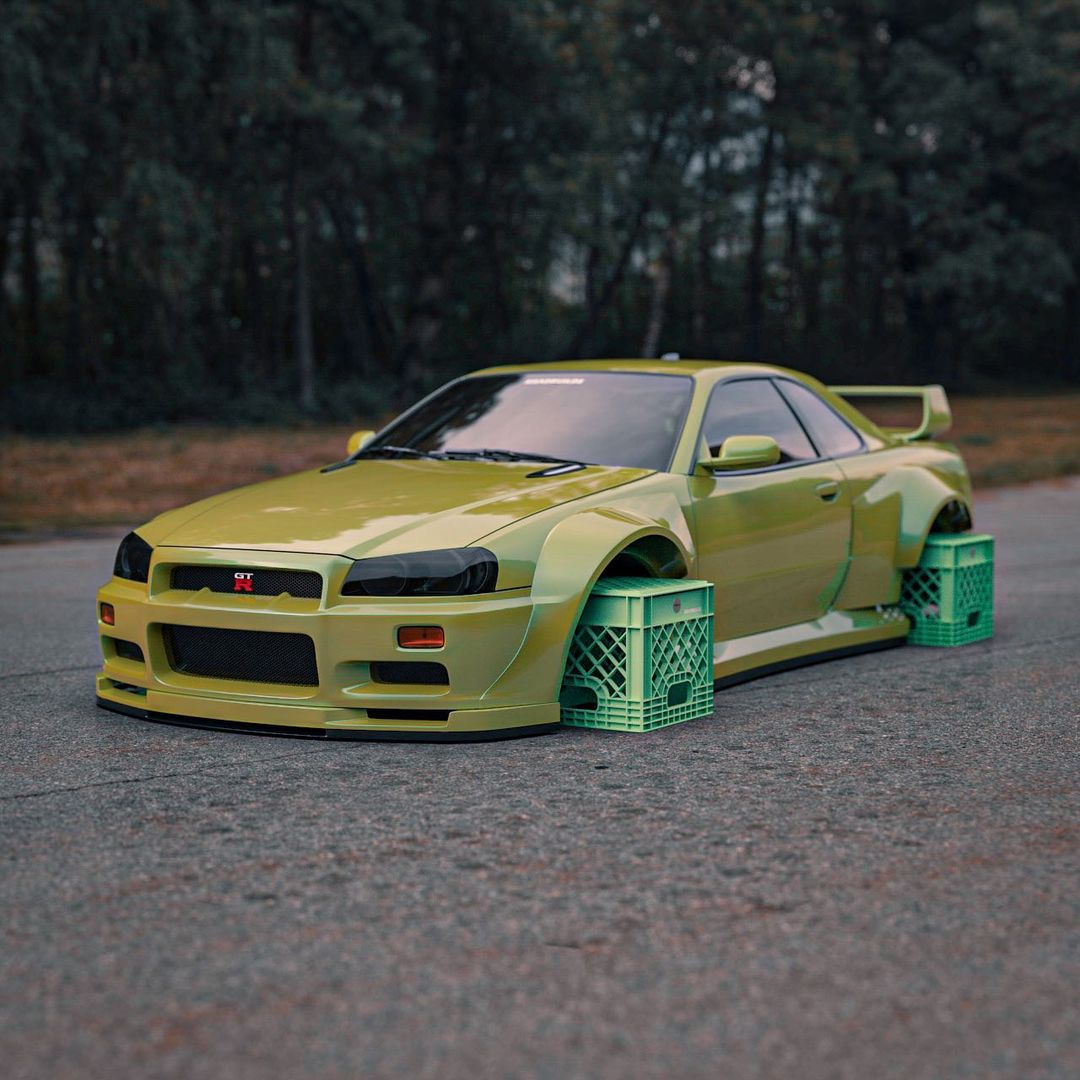 widebody-nissan-skyline-gt-r-rides-on-hilarious-milk-crate-inspired-rotiforms