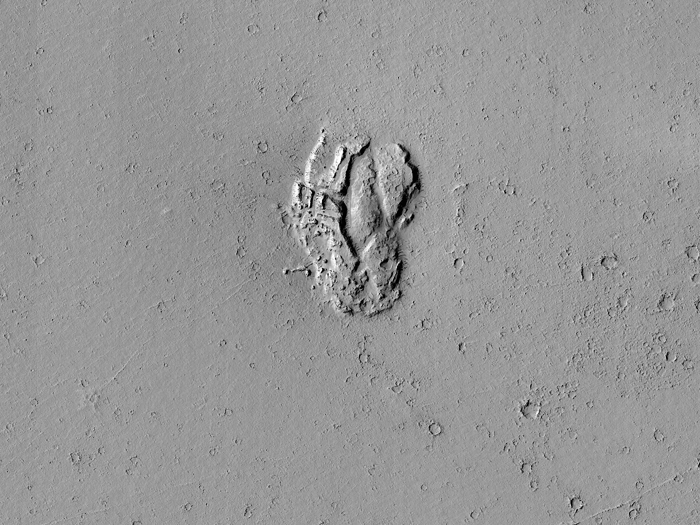 rock-formation-on-mars-looks-like-a-lonely-dome-lost-near-a-weirdly-shaped-crater