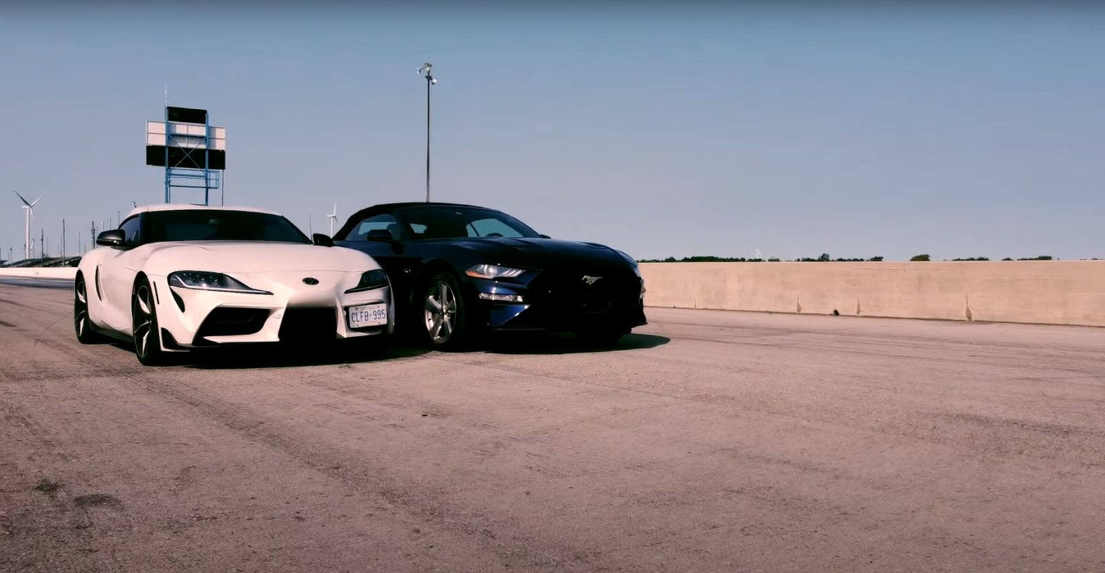 2019-ford-mustang-gt-convertible-10-speed-races-toyota-supra-gr,-v8-power-disappoints