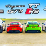 urus-vs-tt-rs-vs-cayman-gt4-vs-golf-r-drag-race-ends-with-mixed-results