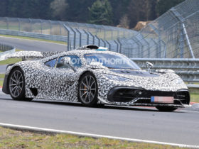 mercedes-benz-amg-one-spy-shots-and-video:-f1-powered-hypercar-on-the-road-and-track