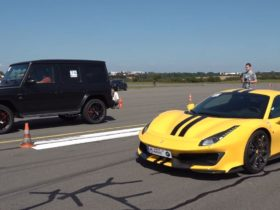 can-a-900-hp-mercedes-amg-g-63-outrun-a-ferrari-488-pista-from-a-roll?-here's-the-answer