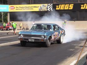 1970-chevy-nova-drag-races-modern-dodge-challengers,-it's-quicker-than-you-think