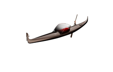 dream-of-winter-gondola,-philippe-starck's-modern-take-on-the-traditional-boat