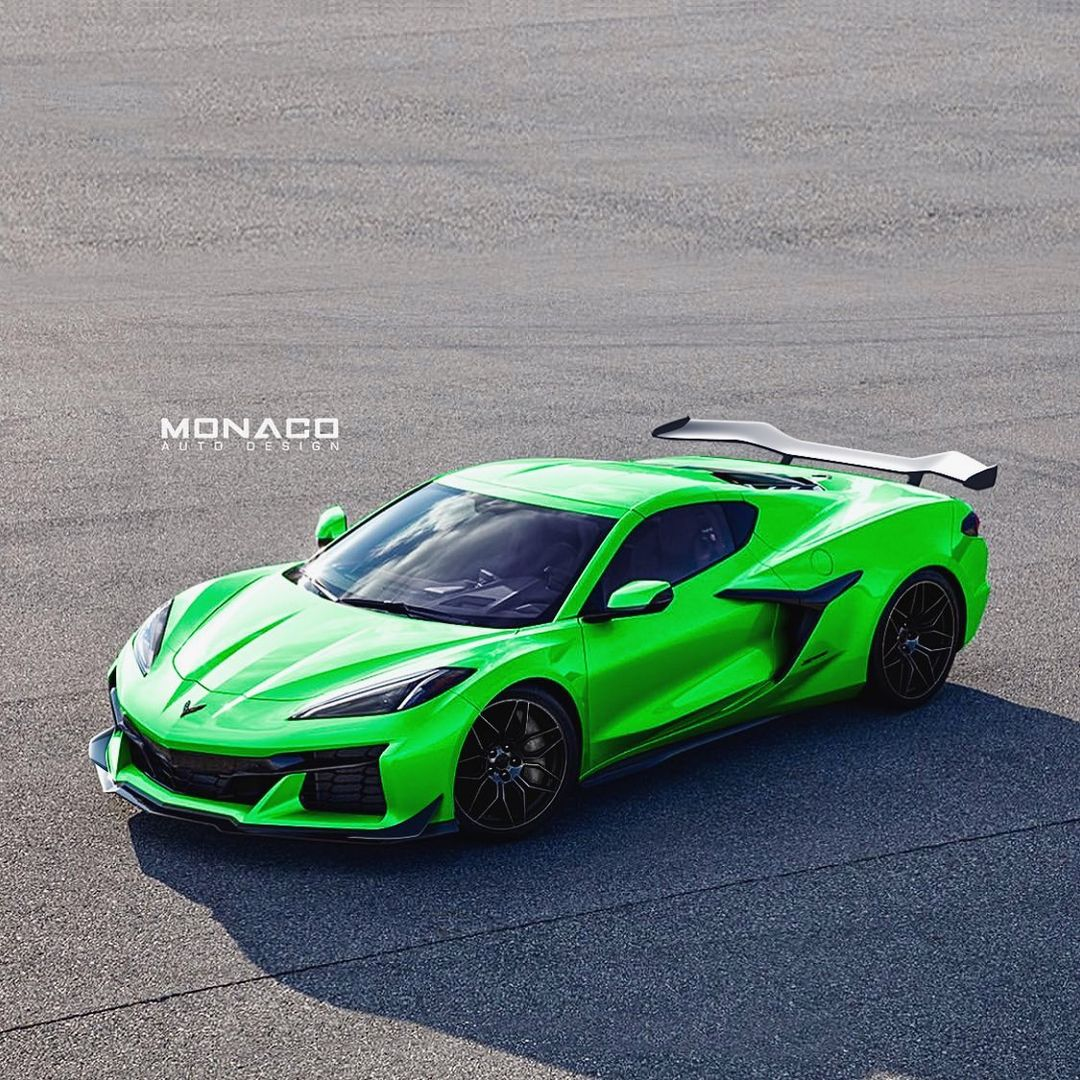 2023-chevy-corvette-z06-unofficially-dresses-up-in-green,-also-fits-the-aero-bits