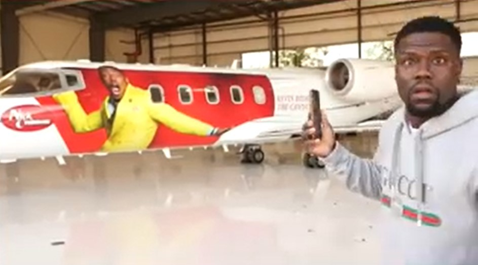 nick-cannon-pranks-kevin-hart-by-wrapping-his-face-on-the-actor's-private-jet