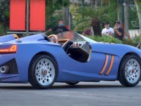 stunning-wooden-bmw-328-hommage-looks-striking-in-periwinkle-color,-is-drivable-too