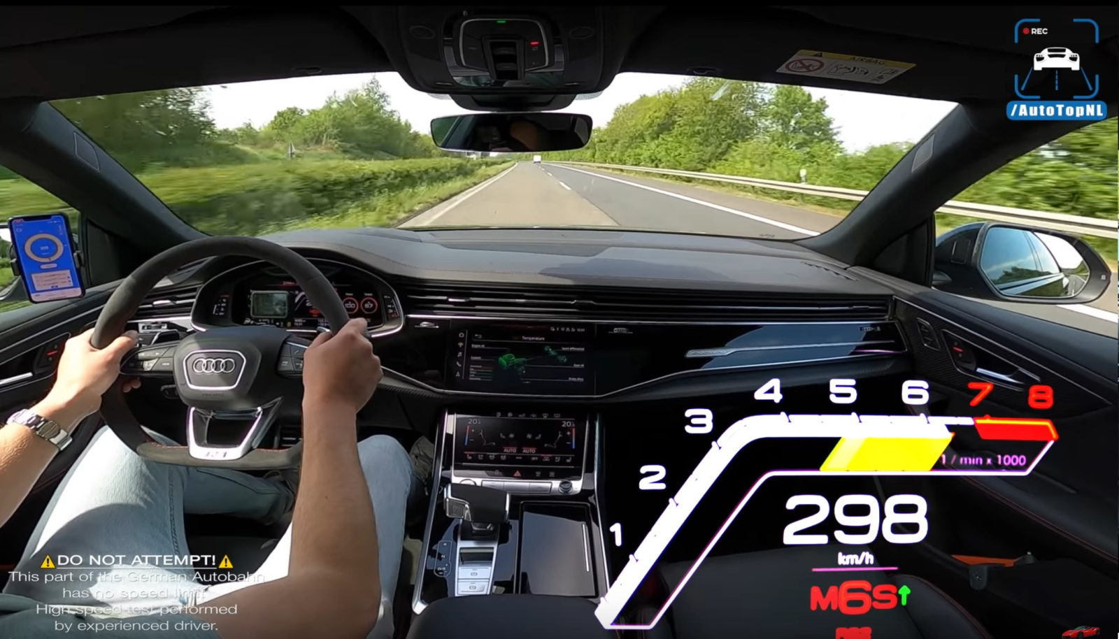 audi-rs-q8-leads-driver-into-temptation,-hits-186-mph-on-public-highway