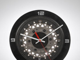 genuine-formula-one-brake-disk-turned-into-beautiful-wall-clock-for-the-classy-petrolhead