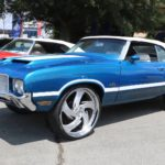 1972-oldsmobile-cutlass-convertible-mixes-442-with-blue-and-white,-rides-on-26s