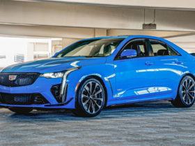 electric-blue-2022-cadillac-ct4-v-blackwing-is-barely-driven-and-highly-seductive